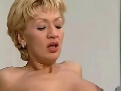 Young chick licks pink secretaries pussy of mature