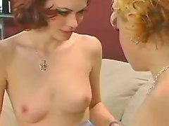 Young lezzies with perky tits make forbedden sex